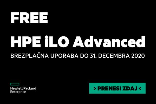 HPE iLO Advanced licenca – brezplačna do konca leta 2020